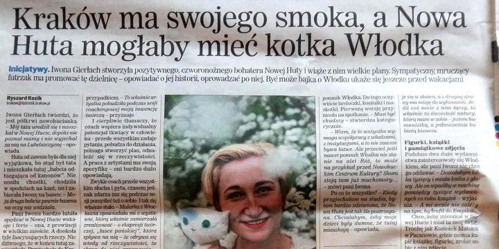 Kotek Włodek w Dzienniku Polskim